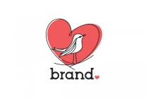 Heart Bird Nest Logo
